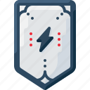 army, badge, bolt, insignia, lightning, military, rank icon