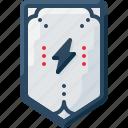 insignia, army, rank, lightning, bolt, military, badge