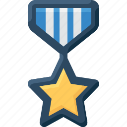 army, badge, insignia, medal, military, rank, star icon