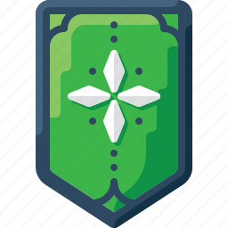 army, badge, four, green, insignia, military, rank icon