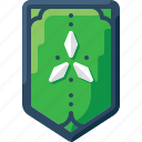 army, badge, green, insignia, military, rank, three icon
