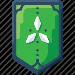 army, badge, green, insignia, military, rank, three icon