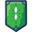 army, badge, green, insignia, military, rank, two icon