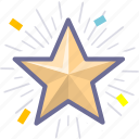 badge, prize, star icon