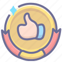 best, excellent, great, guarantee icon