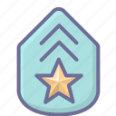 army, badge, military, rank icon