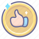 approved, good, positive icon