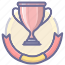 achievement, medal, silver, success, trophy, winner icon
