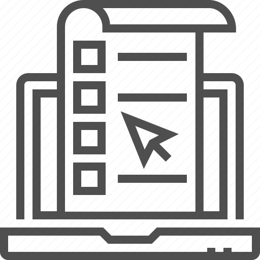 computer, internet, online, survey, test icon