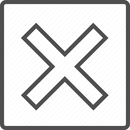 cross, decline, deny, fail, multiply, x mark, x sign icon