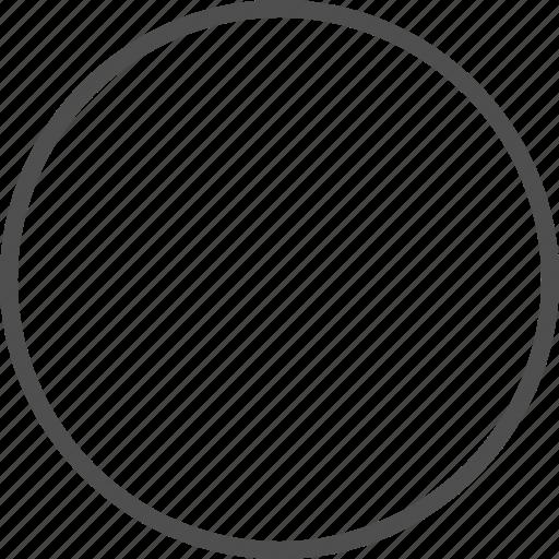 circle, empty, radio button icon