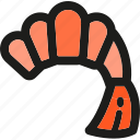 cooking, food, healthy, meal, restaurant, seafood, shrimp icon
