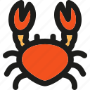 beach, crab, dinner, food, seafood, summer, water icon