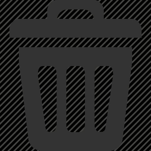 bin, delete, empty, recycle, remove, trash icon