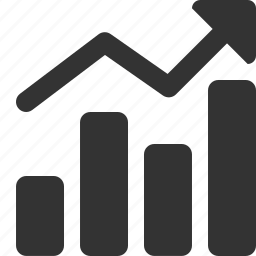 analytics, chart, diagram, report, rising, statistics, up icon