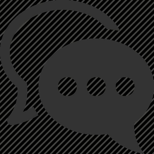 bubble, chat, comment, comments, mail, message, talk icon