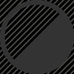 adjust, balance, circle, contrast, half icon