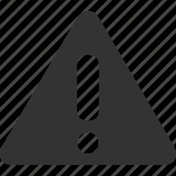 alert, attention, caution, danger, error, problem, warning icon