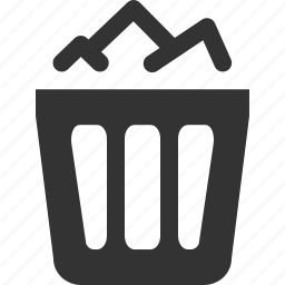 bin, delete, full, recycle, remove, trash icon