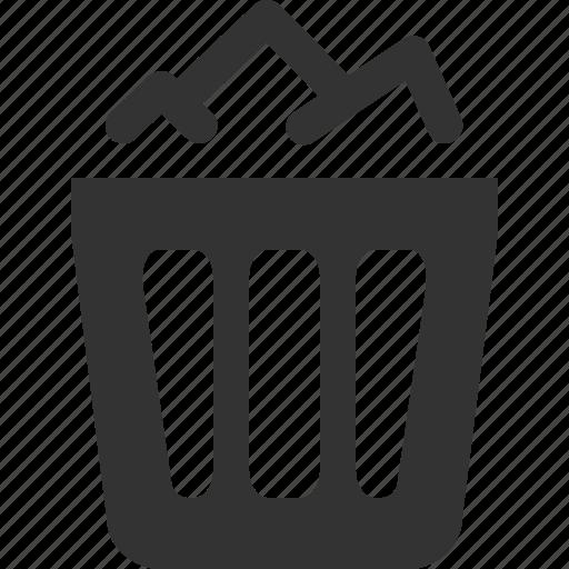 bin, delete, full, recycle, remove, trash icon