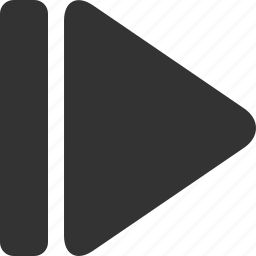 arrow, go, last, next, right icon