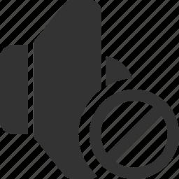 audio, media, mute, off, sound, speaker, volume icon