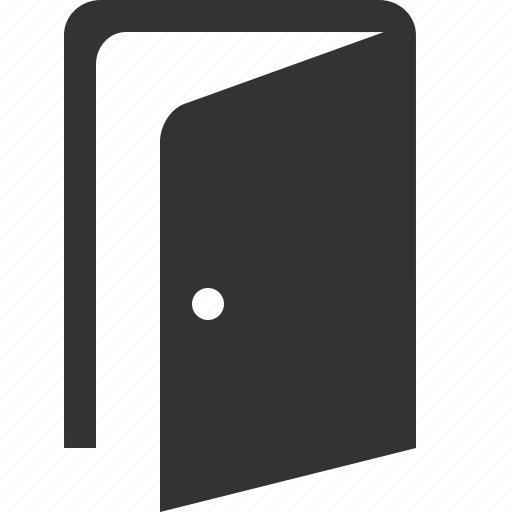 door, exit, logout, open, out icon