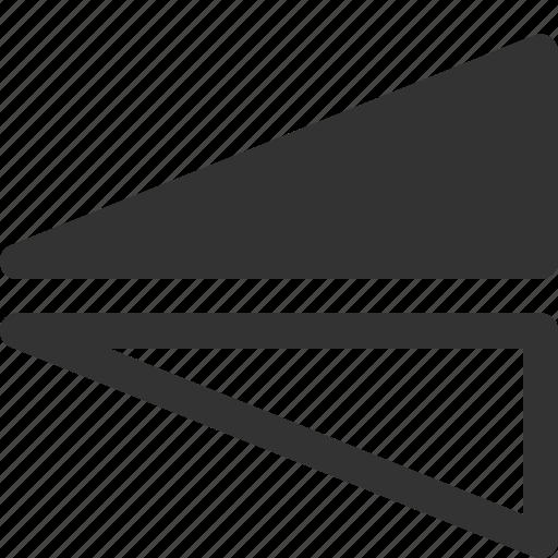 flip, reflect, shape, triangle, vertical icon