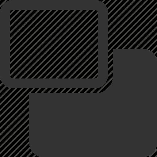backward, backwards, move, rectangle, shape icon