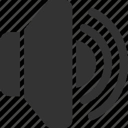 audio, max, music, player, sound, speaker, volume icon