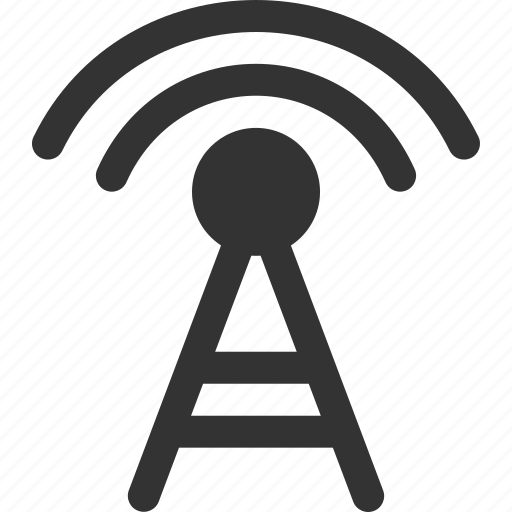 connection, internet, radio, signal, transmit, transmitter, wireless icon
