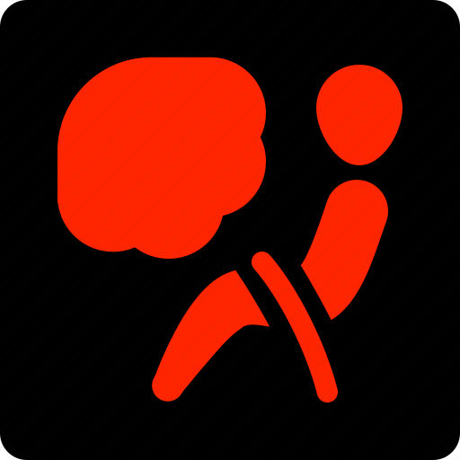 Airbag, warning icon - Download on Iconfinder on Iconfinder