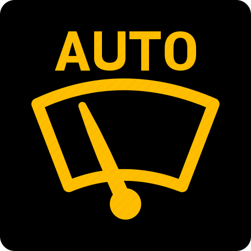 Auto, wiping, windscreen, glass icon