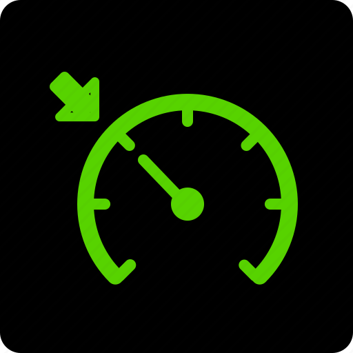 control, cruise, dashboard, on, speedometer icon