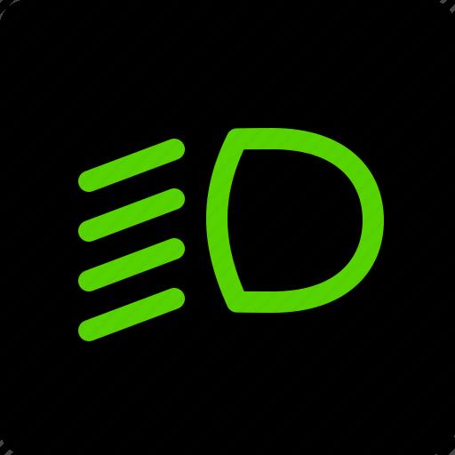 beam, dipped, headlights, lamp icon