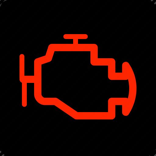 emissions, engine, warning icon