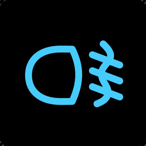 fog, lamp, light, rear icon