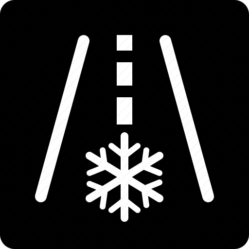 frost, snowflake, warning icon