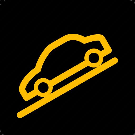 car, control, descent, hill icon