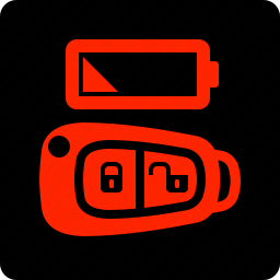 battery, fob, key, low icon