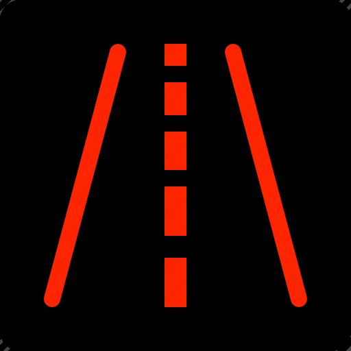 Departure, highway, lane, road, warning icon - Download on Iconfinder