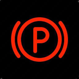 brake, light, parking icon