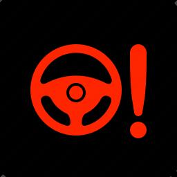 light, power, steering, warning icon