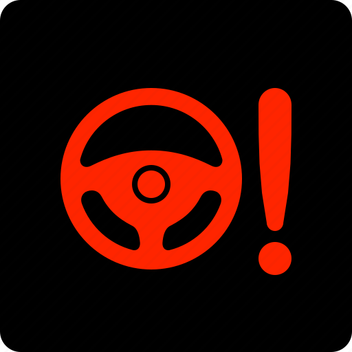 Light, power, steering, warning icon