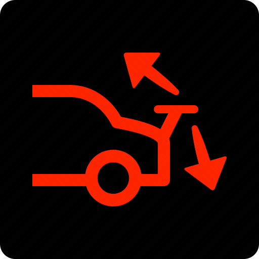 rear, spoiler, warning icon