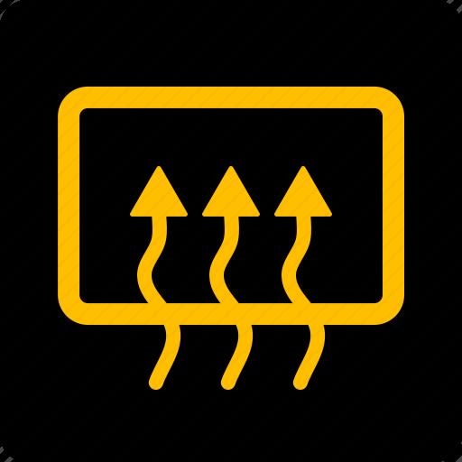 defrost, rear, window icon