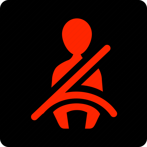 Belt, not, on, seat icon - Download on Iconfinder