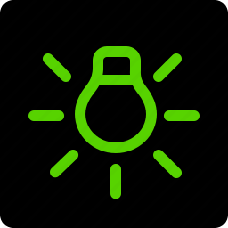 information, lamp, led, sidelight icon