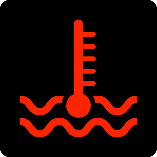temperature, warning icon
