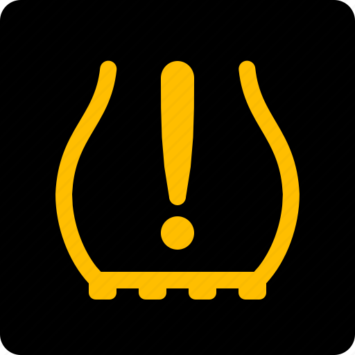 low, pressure, tyre, wheel icon